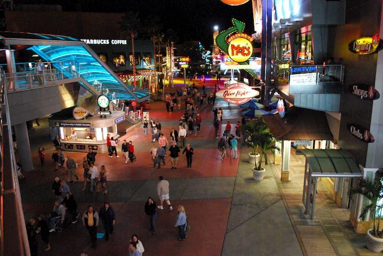 People wandering around Universal's CityWalk