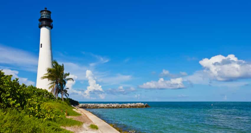 The Cape Florida Lighthouse at Bill Baggs State Park