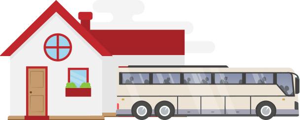 Family & Church Event Charter Bus & Minibus Rental | Falcon
