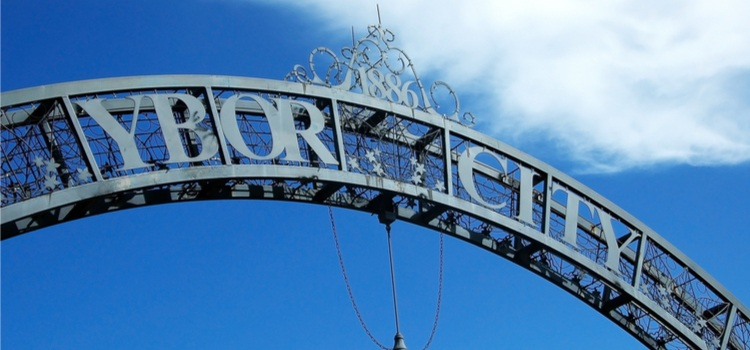 image of Ybor city archway in Tampa